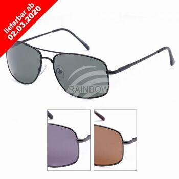 VIPER Sonnenbrille Doppelstegbrille schwarz grau