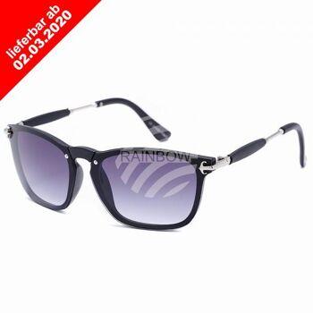 VIPER Sonnenbrille Retro Vintage Nerd schwarz