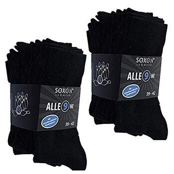 18 Paar schwarze Business Socken + schwarz Gr 39-42 Schwarz
