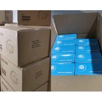 lagernd München: Maske 3lagig  , Bestellung schon ab 10.000 Stück möglich zu 0,25€ im 50er Pack