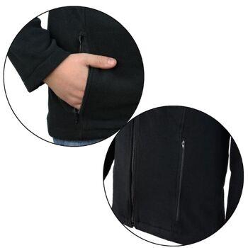 Herren Fleece Jacke * Farbe schwarz * Größen S - XXXL