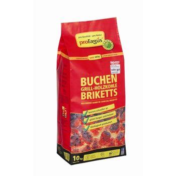 12-60001040, Profagus Sommer-Hit Grillis Briquettes 10,0 Kg Sommerhit Grill Holzkohle Briketts