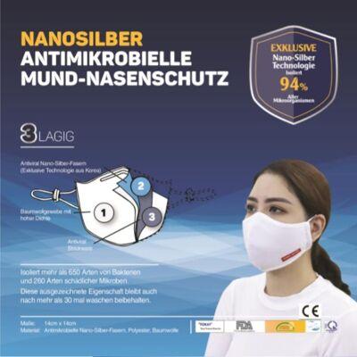 Antimikrobieller Mund-Nasenschutz, Nano-Silber, CE-Zertifikat
