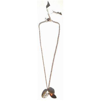 Halskette Halsband Kollier Anhänger Kristall Gold Silber Mandel