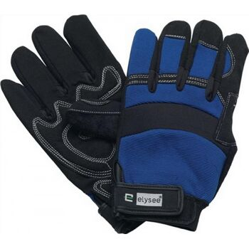 Handschuhe EN388 Kat. II Mechanical Master Gr.10 schwarz/blau Klettverschluss