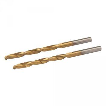 Silverline Titanbeschichteter HSS- Spiralbohrer, 4,5mm, 2er Pack