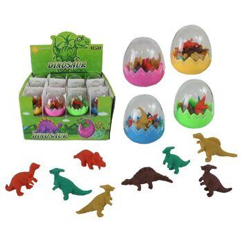 27-36317, Radiergummi-Ei mit 8 Dinosaurier Radierern