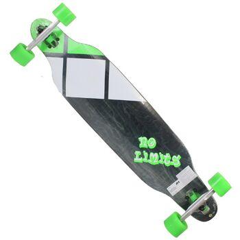 27-51880, Longboard -No Limits 96 cm, 100% Ahornholz, hochwertig