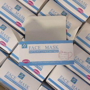 Mundschutz, Atemschutz, Schutzmaske, Gesichtsmaske, Nasenschutz, 3 lagig ***SOFORT LIEFERBAR***