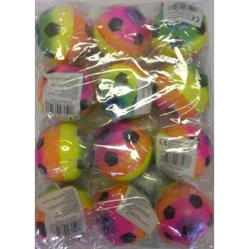 12-206128, Springball, 6,5 cm, Beach Soccer Design aus Schaumgummi, Flummi, Flummiball, Wasserball, Strandball