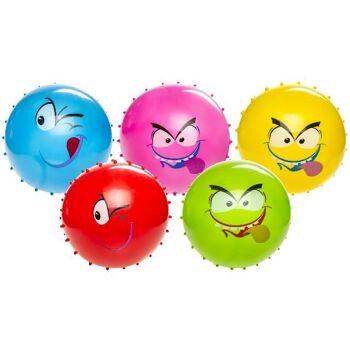 12-48150001, IGELBALL 15 cm, MIT GESICHT, Wasserball, Noppenball, Knetball, Antistressball