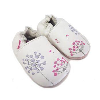 Babyschuhe - weiße D.D Step Leder Krabbelschuhe für Mädchen