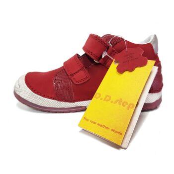 Kinderschuhe - D.D Schritt rote Leder Mädchen Turnschuhe