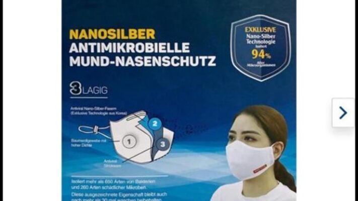 *Premium* NANOSILBER Mundschutz Atemschutzmaske Antibakterielle Maske 3-lagig 94% sofort lieferbar aus Deutschland !! LAGERWARE - SOFORT LIE
