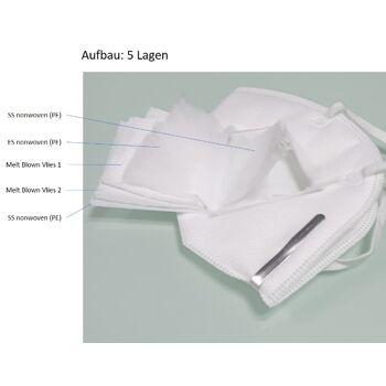KN95/FFP2 (DEKRA Test)High Quality 5-lagen Atemschutzmaske -  Perfekt geeignet für Behörden, Organisationen, Firmen.