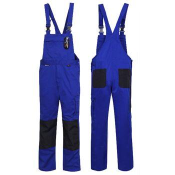 Latzhose Arbeitshose Hose 100% Baumwolle 290G/qm CORDURA Blau Königsblau Kornblau Schwarz Berufskleidung Berufsbekleidung