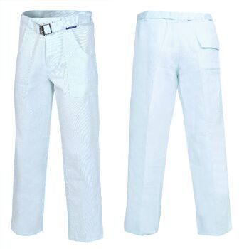 Bundhose Arbeitshose Berufskleidung Weiß 100% Baumwolle 290 G/qm Öko-Tex-Standard-100