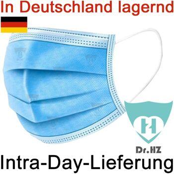 Lieferung aus Deutschland, Mund-Nasen Maske, 3-Lagige Masken mit Filterfunktion, Zustellung am selben Tag möglich