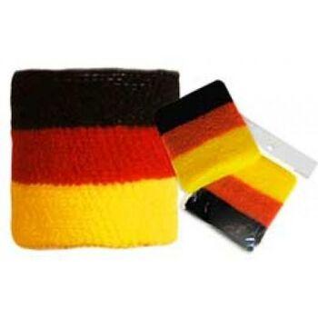 10-684020, Schweissband BRD - Deutschland Farben, Sportband, Textilband Party, Event, Stadion Publicviewing Fanmile, usw