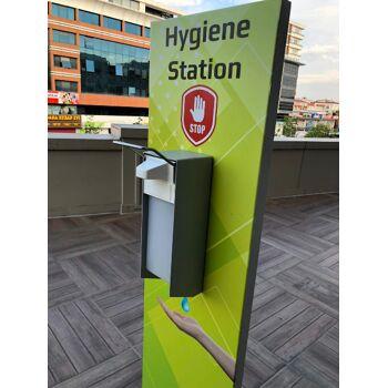 Aufsteller für Desinfektionsmittel Hygiene-Station Hygienespender Desinfektionsspender