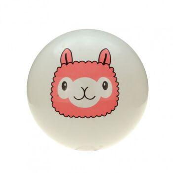 10-583430, XXL Aufblasbarer Lama PVC Ball 50 cm, Wasserball, Spielball, Strandball, Wurfball, Fussball, Fußball