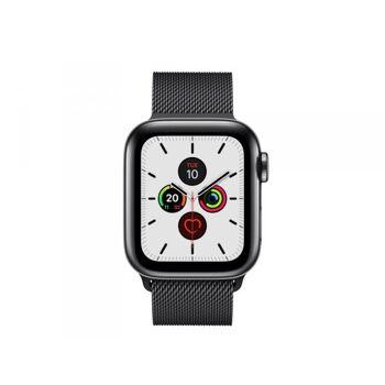Apple Watch 5 40mm Black Steel Case w/ Black Milanese LTE MWX92FD/A