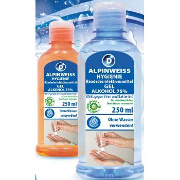 Händedesinfektionsmittel, Desinfektionsmittel, Disinfectant, alcohol cleaner, 250ml, 75% Alkohol!!! oder Gel 1,59€