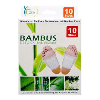12-806306, Bambuspflaster Detox Vital Pflaster, Vitalpads  10er Pack, Stimulieren Sie ihren Stoffwechsel