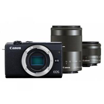 Canon EOS M200 Kit schwarz + EF-M 15-45 + 55-200 IS STM - 3699C018