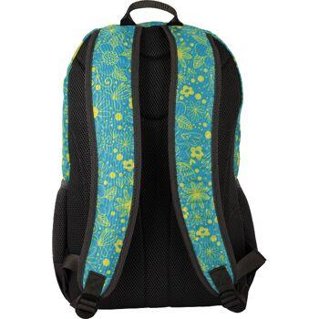 BESTLIFE Rucksack JUST blau/gelb mit Laptopfach bis 15,6 Zoll