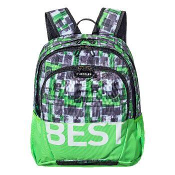 BESTLIFE Rucksack TASKU grün mit Laptopfach bis 15,6 Zoll