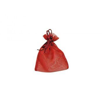 Geschenksäckchen aus Organza, in bordeaux, B11 x H14 cm