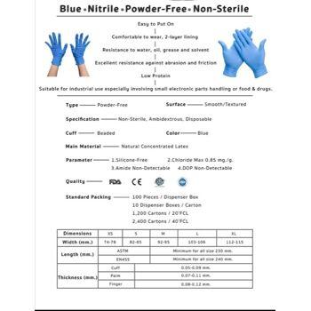 Nitril Einweghandschuhen Blue non powder