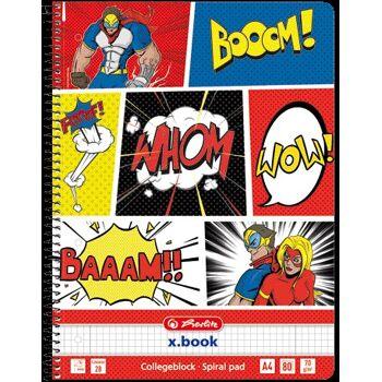 12-50016501, Collegeblock 70g 80 Blatt Lineatur 28 Comic Motiv