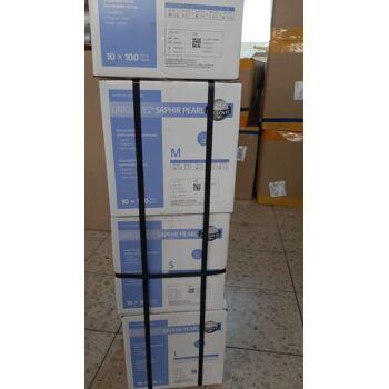 Nitrilhandschuhe, hygiene Hanschuhe - Einweghandschuhe - Puderfrei - Latexfrei -  Blau  S - M - L - XL