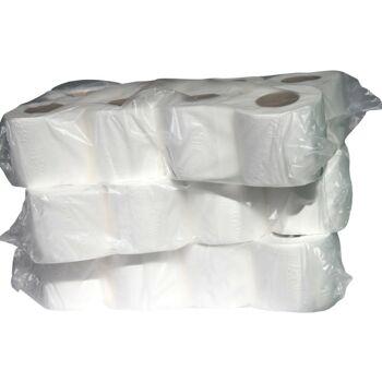 Toilettenpapier 3-lagig - 150 Blatt - 8 Rollen pro Verpackung - mit Prägung