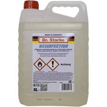 Flächen /Gebäude - Desinfektionsmittel, 5 Liter  mit antimikrobieller Wirkung gegen Bakterien,Hefepilze,behüllte Viren