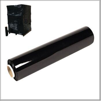Stretchfolie Palettenfolie Verpackungfolie schwarz Folienstärke 23µ 1 Rolle=2,5kg Staffelpreise