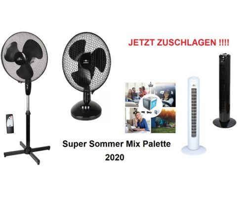 Ventilatoren Klimageräte Standventilatoren Turmventilator Air Cooler Super Sommer Mix Palette Restposten NEU A Ware mit Garantie Top Ware