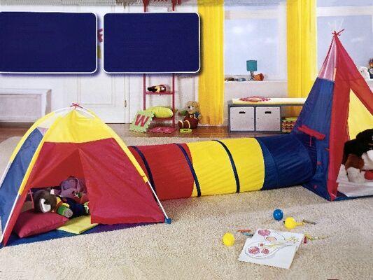 Abenteuer-Zelt mit Tunnel