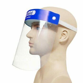 Gesichtsschutz Schutzmaske Face Shild Schutzvisier mit Schutzfolie Aufklappbar !!