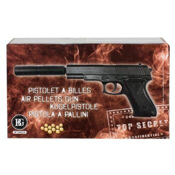 27-60076, Softair Pistole 29 cm, mit Verlängerungsrohr mit Bullet Munition, Kugelpistole++++++