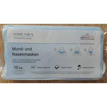 Mund Nasen Schutz 3-lagig  - Made in Germany