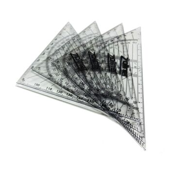 Transparentes Quadrat - Geodreiecke - Schulmaterial