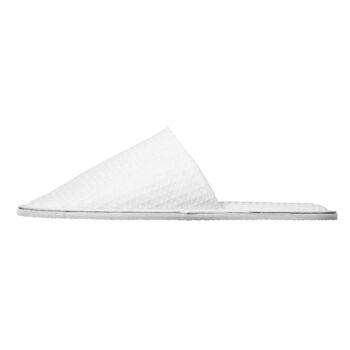 fious Hotelslipper, Modell: Athen, Waffel Material, geschlossen, weiß, unisex