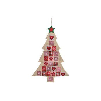 Adventskalender Tannenbaum aus Jute, Textil Bunt (B/H) 76x111cm