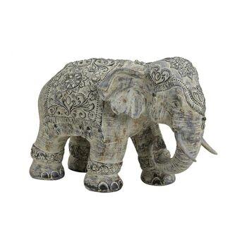Elefant aus Poly Beige (B/H/T) 38x27x18cm