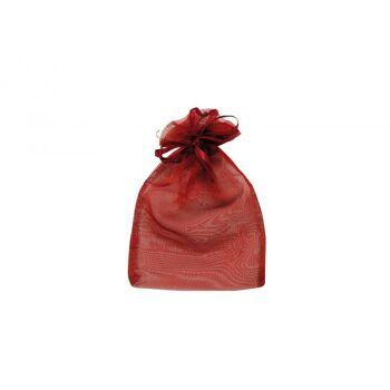 Geschenksäckchen aus Organza, in bordeaux, B15 x H24 cm