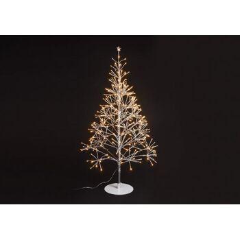 Lichterbaum 380er LED, warmweiß, 30V für Innen, mit Timer aus Kunststoff, Metall Silber (H) 108cm Ø67cm