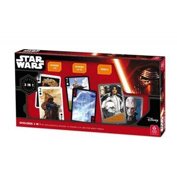Star Wars Spielebox 3 in 1 - 2 Filmdecks Episode 1-3 und 6-7  + Action Game Star Wars Rebels